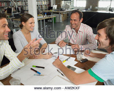 Office workers in a meeting - Stock Photo
