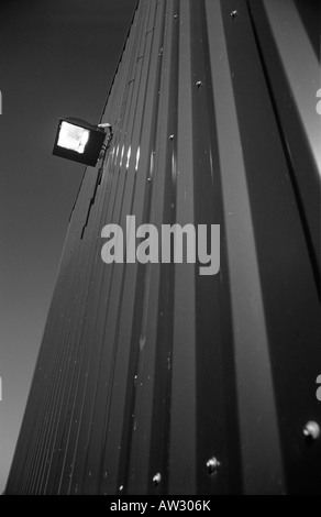 LAMP ON BUILDING - Stock Photo