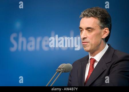 Frank Appel CEO of Deutsche Post World Net - Stock Photo