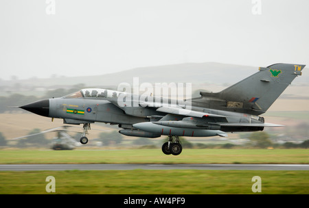 Tornado GR4 fighter jet landing - Stock Photo
