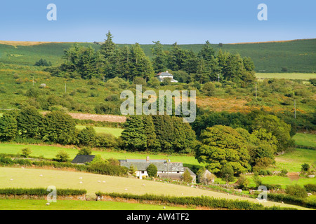 england west country devon dartmoor national park widecombe village villages devonian uncle tom cobley fair view - Stock Photo