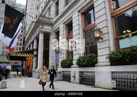 Manhattan's historic Plaza Hotel reopened in March 2008 after extensive renovations and partial conversion to condominiums. - Stock Photo