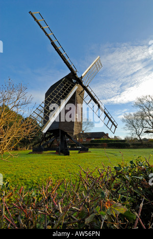 Ashdown Forest Windmill East Sussex England United Kingdom - Stock Photo