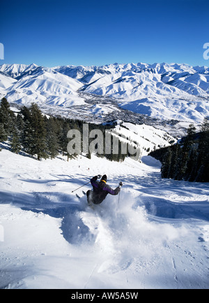 Sun Valley ski area - Stock Photo