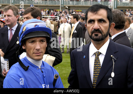Frankie Dettori with His Royal Highness Sheikh Mohammed bin Rashid al Maktoum - Stock Photo