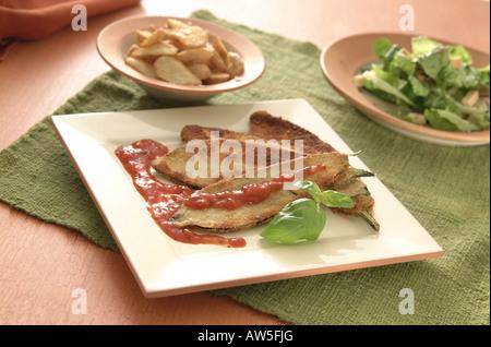 aubergine arrabiata - Stock Photo
