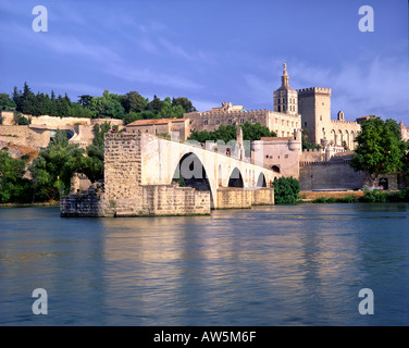 FR - PROVENCE:  Pont St. Benezet at Avignon - Stock Photo