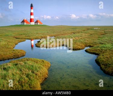 DE - SCHLESWIG HOLSTEIN:  Westerhever Lighthouse - Stock Photo