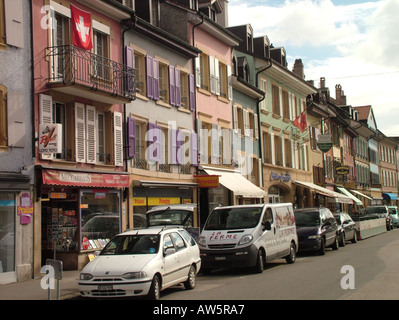AJD46530, Switzerland, Europe, Vaud, Yverdon les Bains - Stock Photo