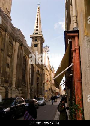 'Eglise St Louis' church on the 'Rue Saint Louis en L'Ille', 'Ile Saint Louis' Paris France Europe - Stock Photo