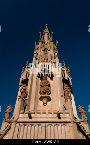 coventry city center Coventry Cross St Michael s Old Cathedral Spire - Stock Photo