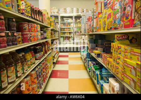 Aisle in Grocery Store Boston Massachusetts - Stock Photo