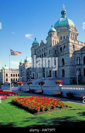Elk142 1077 Canada Victoria British Columbia Parliament building Francis Rattenbury architect 1894-1898 - Stock Photo