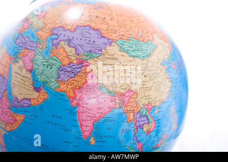 Map of china on a world globe stock photo 22374514 alamy china on globe world map globe showing asia continent isolated on white background stock photo gumiabroncs Choice Image