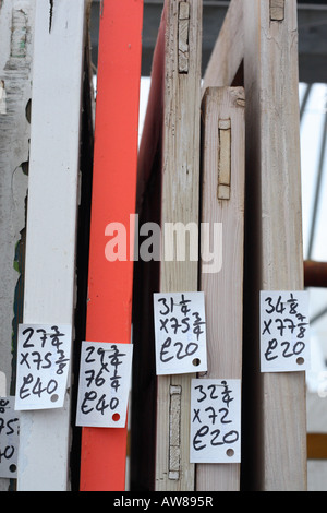 ... Old wooden doors with price tag label at a building material reclamation salvage yard - Stock & reclamation yard old wooden doors in an architectural salvage yard ... pezcame.com
