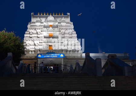 The Iskcon Temple in Bangalore India dedicated to Lord Krishna and built on Hare Krishna Hill - Stock Photo