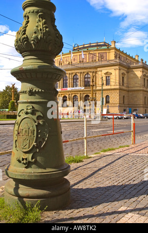 Rudolfinum the House of Artists designed by Josef Zitek and Josef Schulz in Josefov the Jewish quarter in Prague - Stock Photo