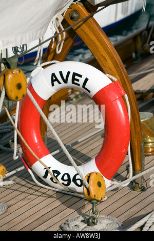 Classic Boat Avel, Lifesaving Ring - Stock Photo