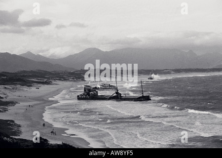 Ship wreck off the coast of Fort Dauphin, Madagascar - Stock Photo