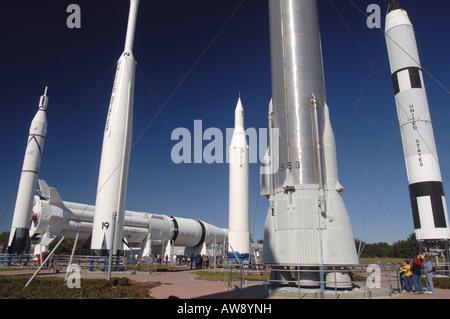 Kennedy Rocket Garden - Stock Photo