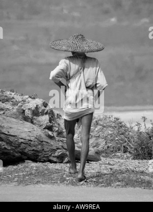 Old nepali man - Stock Photo