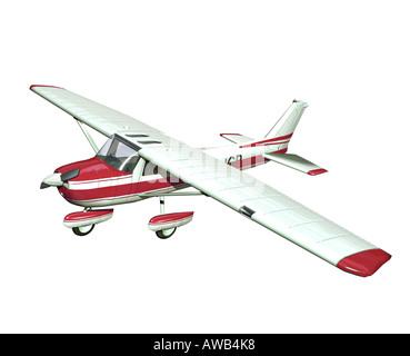 small airplane on white background - Stock Photo