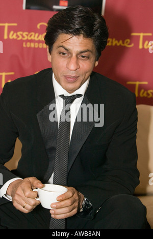 Bollywood Actor Shah Rukh Khan at a visit to Madame Tussauds in London - Stock Photo