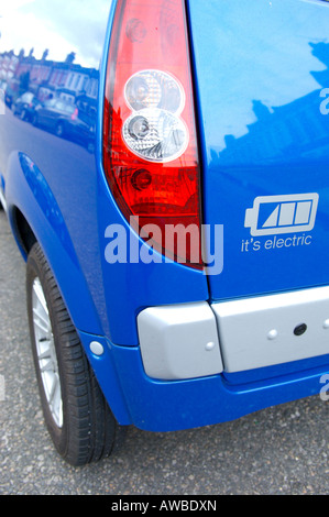 A Mega City NICE Electric Car - Stock Photo