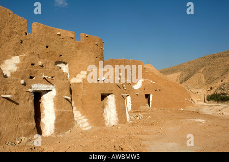 Troglodyte dwellings near Matmata, Tunisia. - Stock Photo