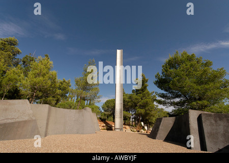 Jerusalem Israel Yad Vashem the Holocaust Martyrs and Heroes Authority The Pillar of Heroism - Stock Photo