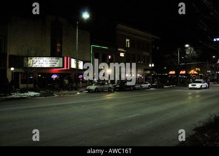 O street, in Lincoln, Nebraska. - Stock Photo