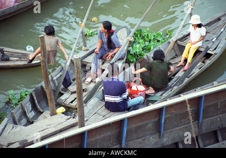 River Activity On Mekong - Stock Photo