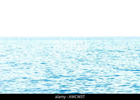 light blue surface rippled of ocean sea nobody - Stock Photo