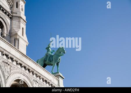 Basilique du Sacré Coeur de Montmartre, Paris, France, Europe - Stock Photo