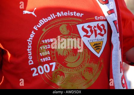 VfB Stuttgart (Stuttgart Football Club) 2007 Bundesliga championship celebrations at the Schlossplatz in Stuttgart, - Stock Photo