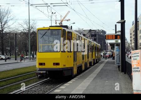 Tram in the center of Berlin, Germany, Europe