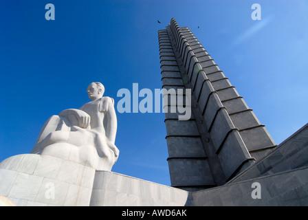José Martí Memorial, Plaza de la Revolución, Havana, Cuba, Caribbean, Americas - Stock Photo
