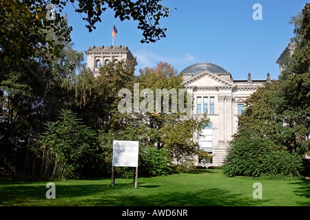 Place for the planned National Memorial for the murdered Sinti and Roma in Berlin, Germany, Europe - Stock Photo