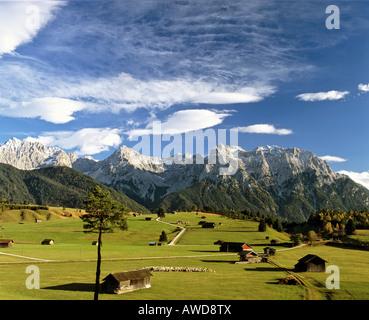 Tonihof Wildlife Park, Karwendel Range, autumn, Mittenwald Forest, Upper Bavaria, Bavaria, Germany, Europe - Stock Photo