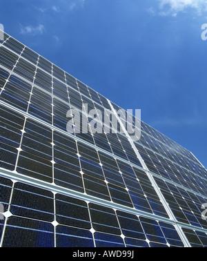 Solar panels at the Franz Josef Strauss Airport, Munich, Upper Bavaria, Germany - Stock Photo