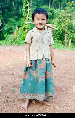 Portrait of a girl, refugee camp Ei Tu Hta, IDP-Area bordering Thailand near Mae Sariang, Birma - Stock Photo