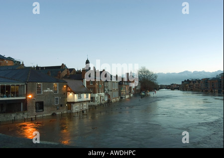 Flooding of the River Ouse, York City Centre, Yorkshire - Stock Photo