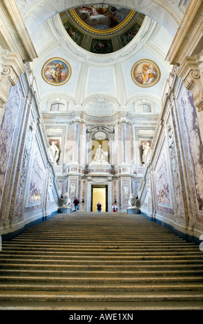 Italy Caserta the atrium of the Royal Palace - Stock Photo