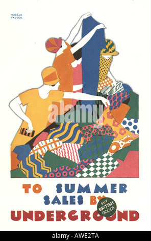London Underground poster by Horace Taylor circa 1925 - Stock Photo
