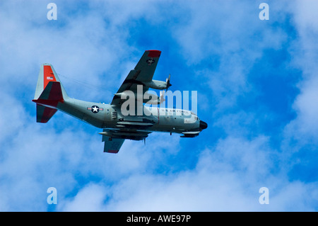 Military plane, US Air Force water plane - Stock Photo