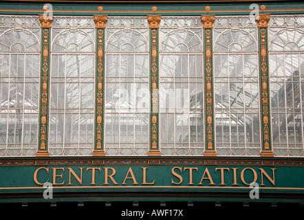 Central station Glasgow Scotland UK - Stock Photo