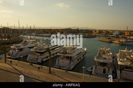 The Abu Tig Marina at El Gouna Egypt - Stock Photo