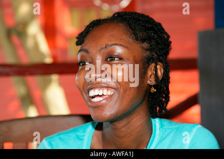 Portrait of a young woman of African ethnicity, Georgetown, Guyana, South America - Stock Photo