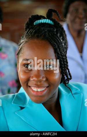 Young woman of African ethnicity, Georgetown, Guyana, South America - Stock Photo