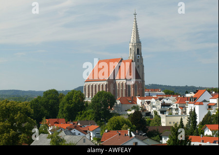 Town of Neuoetting, Upper Bavaria, Bavaria, Germany, Europe - Stock Photo